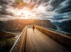 Stegastein Lookout Beautiful Nature Norway observation deck view 598526976 web
