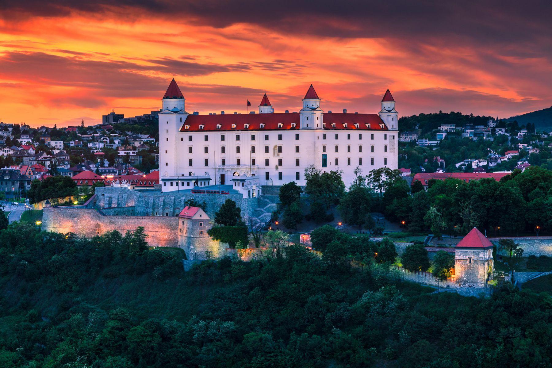Bratislava Sonnenuntergan